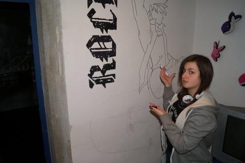 Articles de x x xbananex x x tagg s dessin manga for Dessin peinture mur
