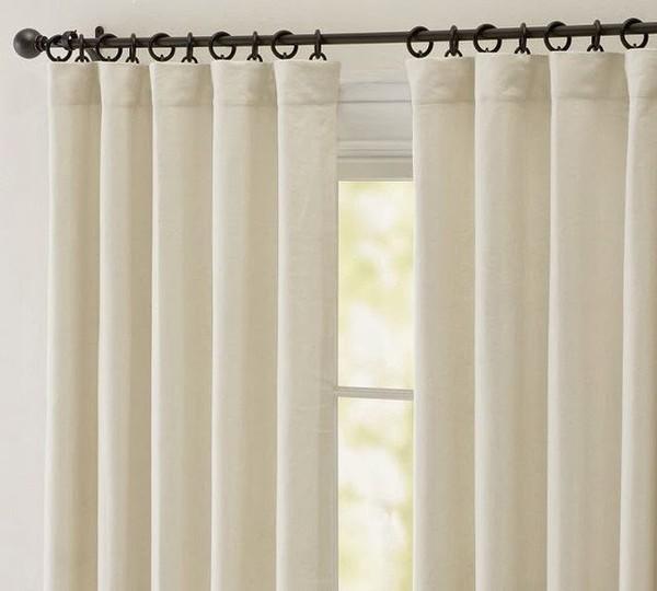 Cr er une atmosph re de printemps avec rideaux lin - Rideau pour meuble de cuisine ...